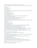 Ngân hàng câu hỏi trắc nghiệm Đường Lối Cách Mạng Đảng Cộng Sản Việt Nam(Có đáp án) phần 2