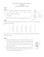 Đề thi môn Lý thuyết trường điện tử - Lần 2