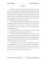 ĐỒ ÁN TỐT NGHIỆP XƠ BÔNG  ĐẠI HỌC BÁCH KHOA HÀ NỘI