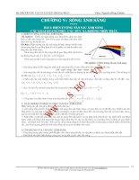 Chuyên đề Vật lý Ôn thi đại học - Chương V. Sóng ánh sáng
