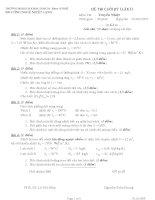 Đề thi cuối kỳ (lần I) môn Truyền nhiệt có đáp án, địa học BK TPHCM.PDF