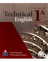 Technical english  students book 1a