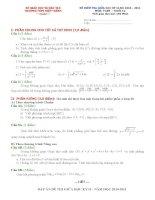 đề kiểm tra học kì 2 môn toan 12