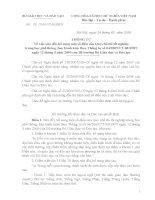 Thông tư 05  /2010/TT-BGDĐT_về việc sửa đổi, bổ sung một số điều của quy chế thi tốt nghiệp THPT
