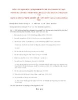 9 Dạng bài tập Nguyên lý kế toán có bài giải