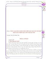 SKKN Nâng cao chất lượng phân môn Tập làm văn cho học sinh lớp 5 thông qua tiết trả bài viết