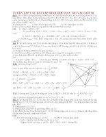 Tuyển tập các bài tập hình học hay thi vào lớp 10