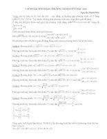 Cách giải một dạng phương trình vô tỉ