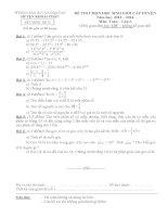 Đề thi học sinh giỏi huyện Khoái Châu môn toán 6 năm học 2013 - 2014 (có đáp án)