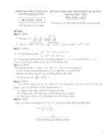Đề thi học sinh giỏi huyện Khoái Châu môn toán 9 năm học 2013 - 2014(có đáp án)