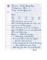Một số bài viết tiêu biểu trong cuộc thi viết chữ đẹp cấp trường năm học 2010 2011
