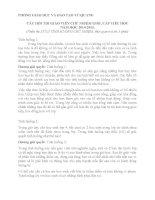CÂU HỎI THI GIÁO VIÊN CHỦ NHIỆM GIỎI, CẤP TIỂU HỌC NĂM HỌC 20142015. (Phần thi XỬ LÝ TÌNH HUỐNG CHỦ NHIỆM, thời gian trả lời 5 phút)