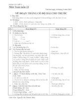 GIÁO ÁN TOÁN TUẦN 23 - LỚP 1
