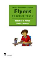 YLE  Flyers practise test Teacher's Notes Answer Key