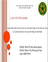 KHÓA LUẬN TỐT NGHIỆP Hoàn thiện kiểm soát nội bộ chu trình bán hàng và thu tiền tại Công ty cổ phần bánh kẹo liên doanh Maiays@ Việt Nam