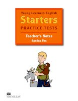 YLE Starters practise test Teacher's Notes Answer Key