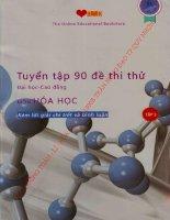 tuyển tập 90 đề thi thử đại học cao đẳng môn hóa học kèm lời giải chi tiết và bình luận tập 3
