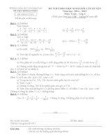 Đề thi học sinh giỏi huyện Khoái Châu môn toán 6 năm học 2014 - 2015(có đáp án)