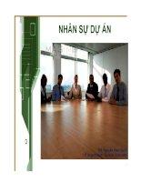 Bài giảng Quản lý dự án công nghệ thông tin: Chương 13: Nhân sự dự án (ThS. Nguyễn Khắc Quốc)