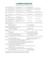 Bộ 500 câu hỏi trắc nghiệm KQ ôn thi Sinh