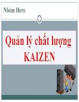 Quản lý kaizen và công cụ 5S