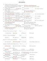 SPEAKING EXERCISES TEST 3