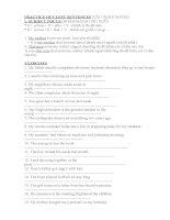 PRACTICE OF CLEFT SENTENCES bài tập câu chẻcâu nhấn mạnh