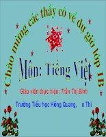 Giao an Tieng Viet du thi GVDG cap huyen