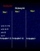 bài giảng Phương trình đưa được về dạng ax+b=0