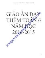 GIÁO ÁN DẠY THÊM TOÁN 6 NĂM HỌC 2014  2015