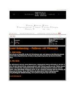tài liệu về thiết kế hệ thống pfsen