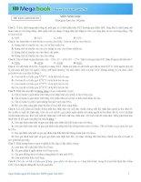 ĐỀ THI THỬ MÔN SINH HỌC THPT 2015 KÈM LỜI GIẢI VÀ ĐÁP SỐ - ĐỀ SỐ 10