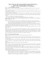 Trả lời chọn bộ câu hỏi Sinh học 9