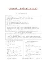 Toán 12 chuyên đề khảo sát hàm số ôn thi đại học
