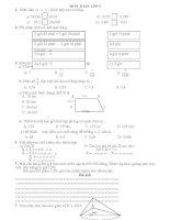 Tuyển tập các bài toán trắc nghiệm lớp 5