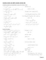 Bài tập tổng hợp phương trình mũ hay, khó qua các năm. có đáp án