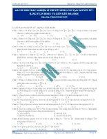 110 câu trắc nghiệm lí thuyết phần Cấu tạo NT - BTH và Liên kết hóa học