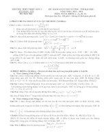 Đề và đáp án thi thử ĐH khối A, B, D THPT Triệu Sơn 4