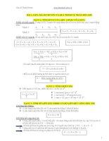 Tổng hợp công thức sinh học 12