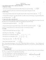 Lý thuyết và bài tập chương 1,2,3 lớp 11