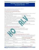 Tổng hợp lí thuyết ôn thi môn Vật lí (Phần 4)