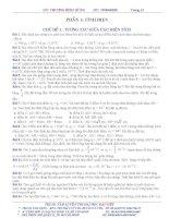Tự luận và trắc nghiệm Vật lí 11 học kì 1