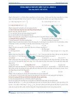 Tổng hợp lí thuyết ôn thi môn Vật lí (Phần 3)