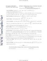 bộ 34 đề thi thử thpt quốc gia môn toán có đáp án hay nhất