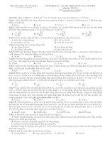Đề thi minh họa và đáp án kỳ thi THPT quốc gia môn toán