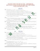 Đề cương ôn tập học kỳ i lớp 12 môn toán năm học 2012   2013 (THPT chuyên hà nội   amsterdam)