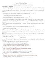 Lý thuyết và bài tập vật lý lớp 11 chương 4,5, 6,7