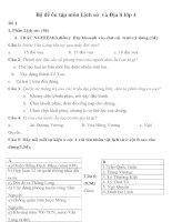 Bộ đề ôn tập môn Lịch sử  và Địa lí lớp 4