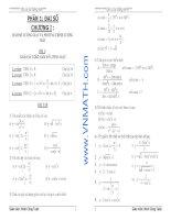 Hình học 11. Bài tập chương 1