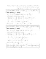 Bài toàn tìm điểm M trên đồ thị hàm số
